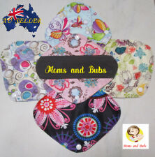 Reusable Menstrual Cloth Pads for Women Sanitary Charcoal 4 Layers 100% Bamboo