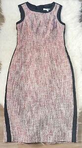 L.K. Bennett Women's Dress Purple White Size 6 Cotton Mix Dr Julie Knit Lined