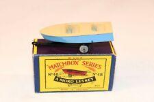 Matchbox Lesney No 48 Meteor Boat & trailer near mint in box all original