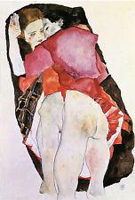 Egon Schiele Reproductions: Two Girls (Lovers) - Fine Art Print