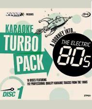 ZOOM KARAOKE CDG     80s  HITS TURBO PACK  192  TOP TRACKS ON 10 DISCS    NEW