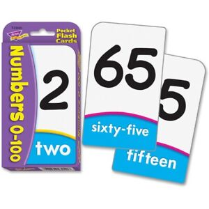 FLASH CARDS;NUMBERS 0-100