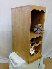 Solid Pine Freestanding Kitchen Cabinet Integrated Wine Rack Shelving Storage