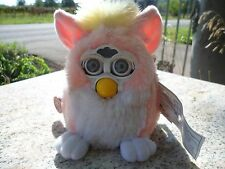 "1999 Furby Baby ""Baby Pink"" White Generation 1 Model 70-490 Electronic w/ Tags"