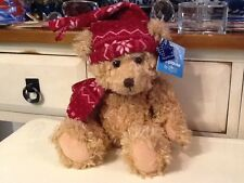 """Russ 10""""  Brown Bear Xmas Stuffed Plush Toy with Tags"""