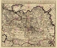 Map Antique 1705 Witsen Tartary Russia Siberia Asia Replica Canvas Art Print