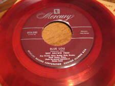 45 rpm: ten red wax 45s on Mercury, jazz & be-bop (old stock)