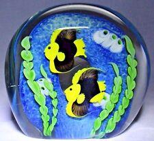 GORGEOUS Super Magnum ORIENT & FLUME Fish AQUARIUM Glass PAPERWEIGHT Sculpture