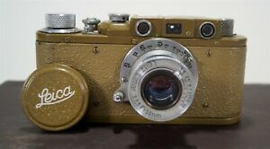 Vintage Pre-War 1937/8 Military Leica IIIa Green 35mm Camera w/Elmar Lens 247426