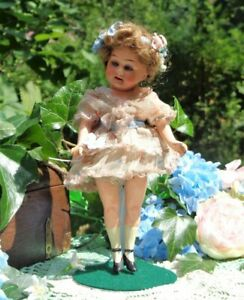 """CHARMING 7""""ANTIQUE ARMAND MARSEILLE FLAPPER DOLL WITH ORIGINAL FACTORY COTHES"""