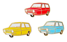 Reliant Robin Mark I 3 Wheeler Pin Badge Set - Blue, Red & Yellow