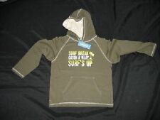 NWT Gymboree Boys Green GLOBAL SURF Sweatshirt Hoodie 8 Surfing Surfer Beach NEW