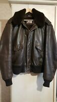 Aviateur SCHOTT 184 SM Cuir Flight Jacket Vintage Taille 50 USA / 58/60 Fr 3XL