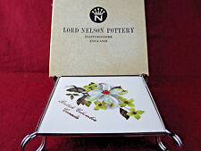 VTG Lord Nelson Pottery TRIVET British Columbia Canada Tile Hot Plate Floral NOS