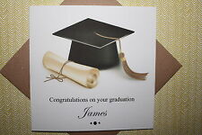 Handmade Personalised Congratulations On Your Graduation Card