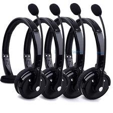 4PCS Wireless Bluetooth Handsfree Boom Mic Headset Headphone Over Head Trucker #