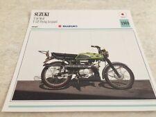 Fiche moto collection Atlas motorbike SUZUKI T90 Wolf T125 Flying Léopard 1969