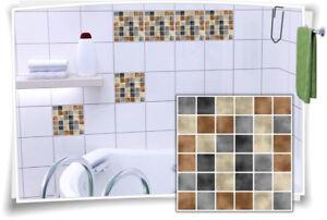 15x20cm Lila Fliesenaufkleber Fliesen Aufkleber Fliesenimitat Mosaik M8