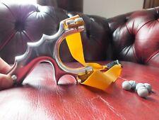 Caza Pro Metal Aluminio Catapulta Slingshot con Theraband Oro TTF