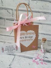 Teacher gift, personalised teacher gift, message in a bottle, gift bag,