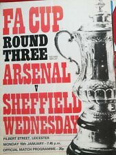F.A. Cup Round Three Second Replay Arsenal V Sheffield Wednesday Filbert Street