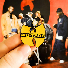 Wu-Tang Clan Hip Hop Rap Symbol Music Denim Jacket Clothing Brooch Pin Acce Top
