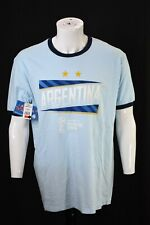 NEW FIFA World Cup Russia 2018 Argentina Slanted Light Blue T Shirt Adult XL