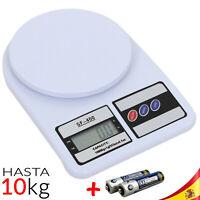 BALANZA DIGITAL PRECISION 1 gr a 10 Kg Peso COCINA bascula ELECTRONICA ABS LCD