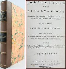 1773*CHURCH OF SCOTLAND*WORSHIP,DISCIPLINE,GOVERNMENT*KIRK SCANDALS*CENSURES*NEW