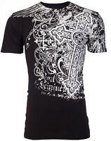 Archaic AFFLICTION Mens T-Shirt IMPACT Cross Tattoo Biker MMA $40