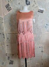 Vintage 1920's beaded silk flapper dress, As is