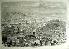 RISORGIMENTO:FIRENZE A VOLO D'UCCELLO.800Ina.1859.