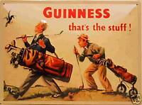 Guinness Golfer large embossed steel wall sign (hi 4030)
