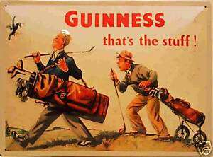 Guinness Golfer large embossed steel wall sign 400mm x 300mm