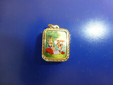 Vintage Reuge Sterling Gold & Enamel Music Box Charm Pendant (Watch Video)