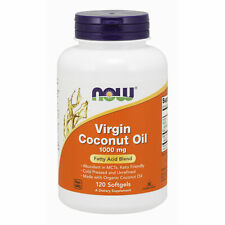 Virgin Coconut Oil 1000mg 120 Capsules   CONTAINS CAPRYLIC ACID FOR CANDIDA !!