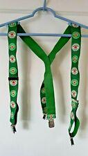 Heineken Glass Bottle Beer Cap Green Suspenders St. Patrick's Day drinking