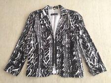Gerry Weber Women's Stunning Black White Patterned Blazer Jacket Coat Size 14
