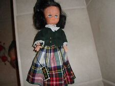 "Vintage Wellwood Selkirk 12"" Doll Made in Scotland black hair with tags"