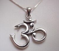 Beautiful Ohm Necklace 925 Sterling Silver Corona Sun Jewelry mantra