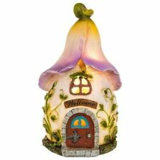 Fairy Glade Roof House Small Ornament Figurine Light Up Gift Novelty Garden