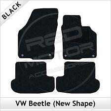 Volkswagen VW Beetle (New Shape) 2012 onwards Tailored Carpet Car Mats BLACK