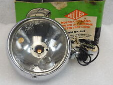 Miller 44S Vintage Motorcycle & Scooter Chrome Plated Spot Lamp Light