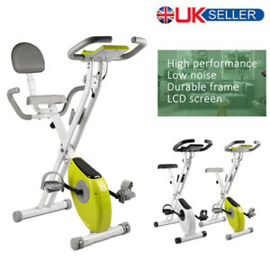 Indoor Folding Magnetic Exercise Bike Adjustable Aerobic Training Fitness Cardio