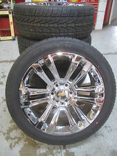 "22"" New Silverado Suburban Factory Spec Chrome Wheels 3054022 Nexn Tires 4741A G"
