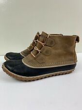 Women's SOREL Size 7.5 Out N' About Elk Leather Outdoors Duck Boots NL2133-286