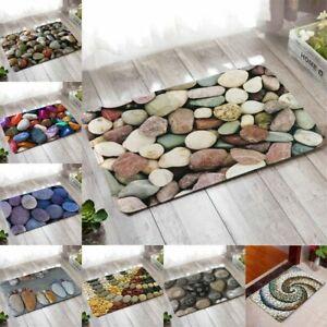 Pebble 3D Doormat Carpet Non Slip Bed Kitchen Living Room Floor Mat Area Rugs