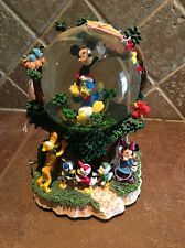 Disney's Mickey Mouse & Friends Musical Water Snow Globe Tune Lets Go Fly A Kite