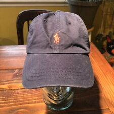 Polo Ralph Lauren Hat Cotton Navy Blue And Red Horse Dad Hat