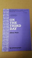 Lot of 10 On the Third Day Pote 1992 SATB Choral Octavo Piano handbells opt.